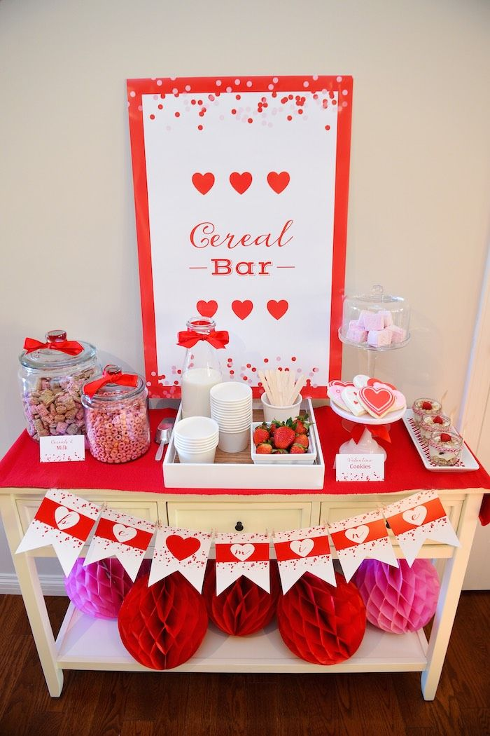 Cereal-ously Sweet Valentine | Valentine's Day Breakfast Party via Kara's Party Ideas ----- How cute is this!