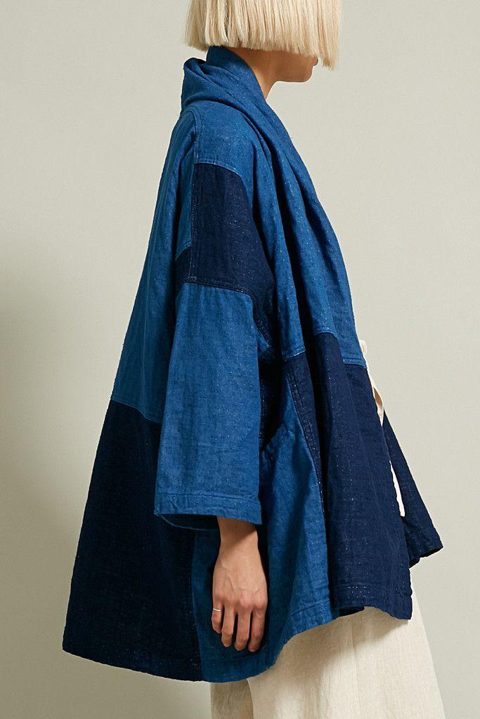 Atelier Delphine Haori Coat in Patchworked
