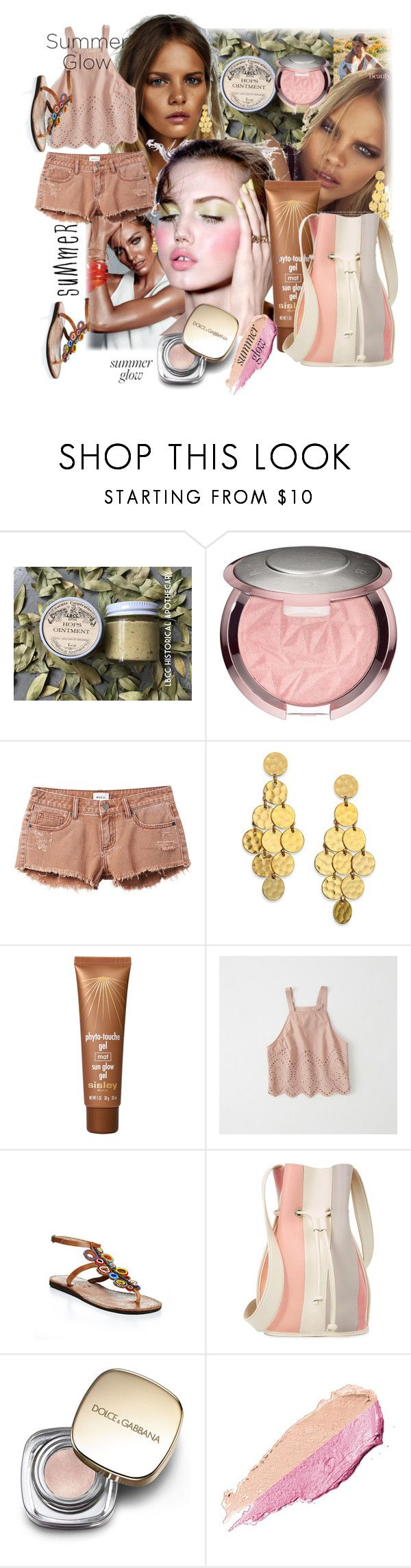 """summer glow"" by hannah353 ❤ liked on Polyvore featuring beauty, Urban Outfitters, RVCA, Stephanie Kantis, Sisley, Abercrombie & Fitch, Laidback London, 10 Crosby Derek Lam, Dolce&Gabbana and By Terry"
