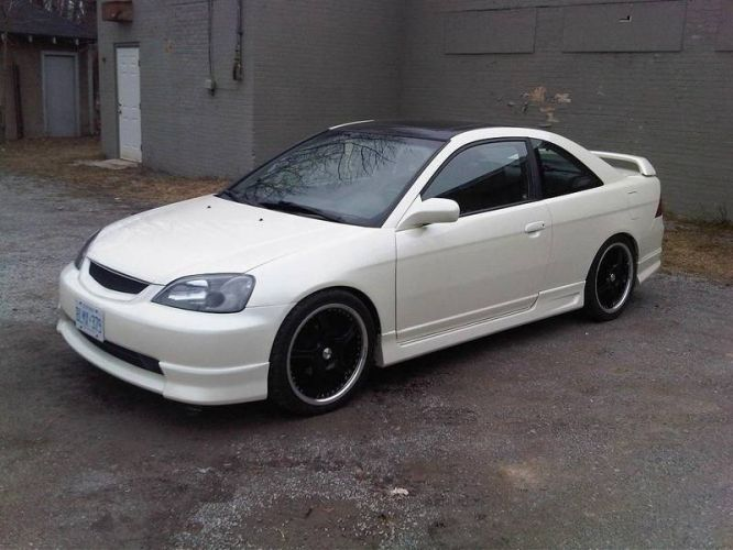 Has custom pearl white paint job done last year and for Honda civic customization ideas