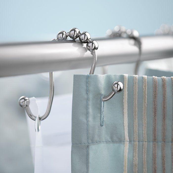 Double Shower Curtain Hooks Double Shower Curtain Shower