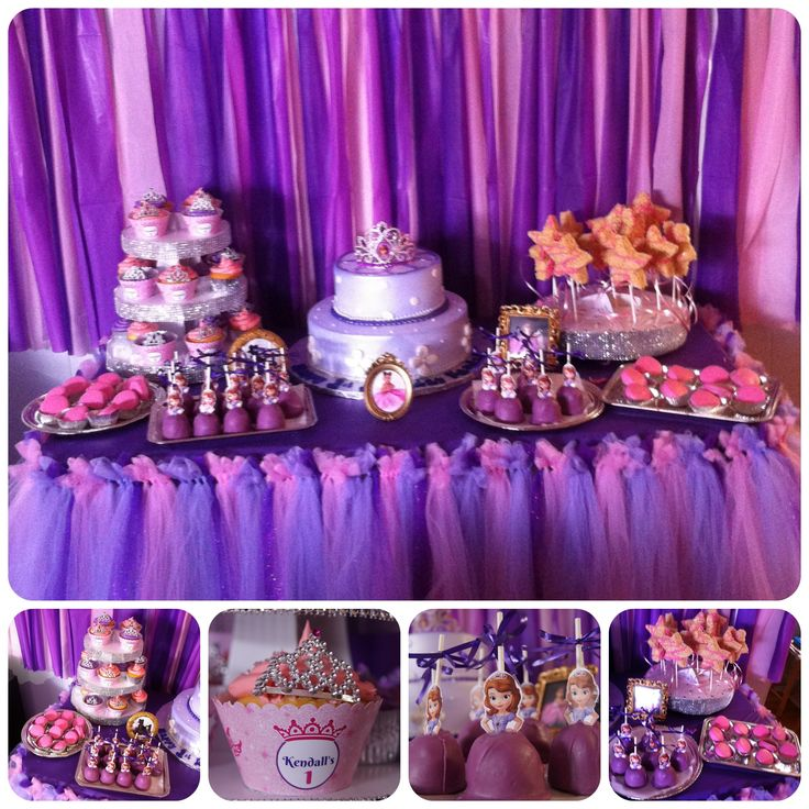 Dessert Table. Cupcakes, Princess Wand Rice Krispies
