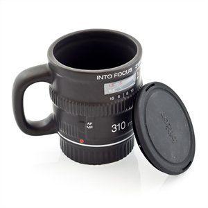 Into Focus Mug - Camera Lens Mug with Lid Lenscap