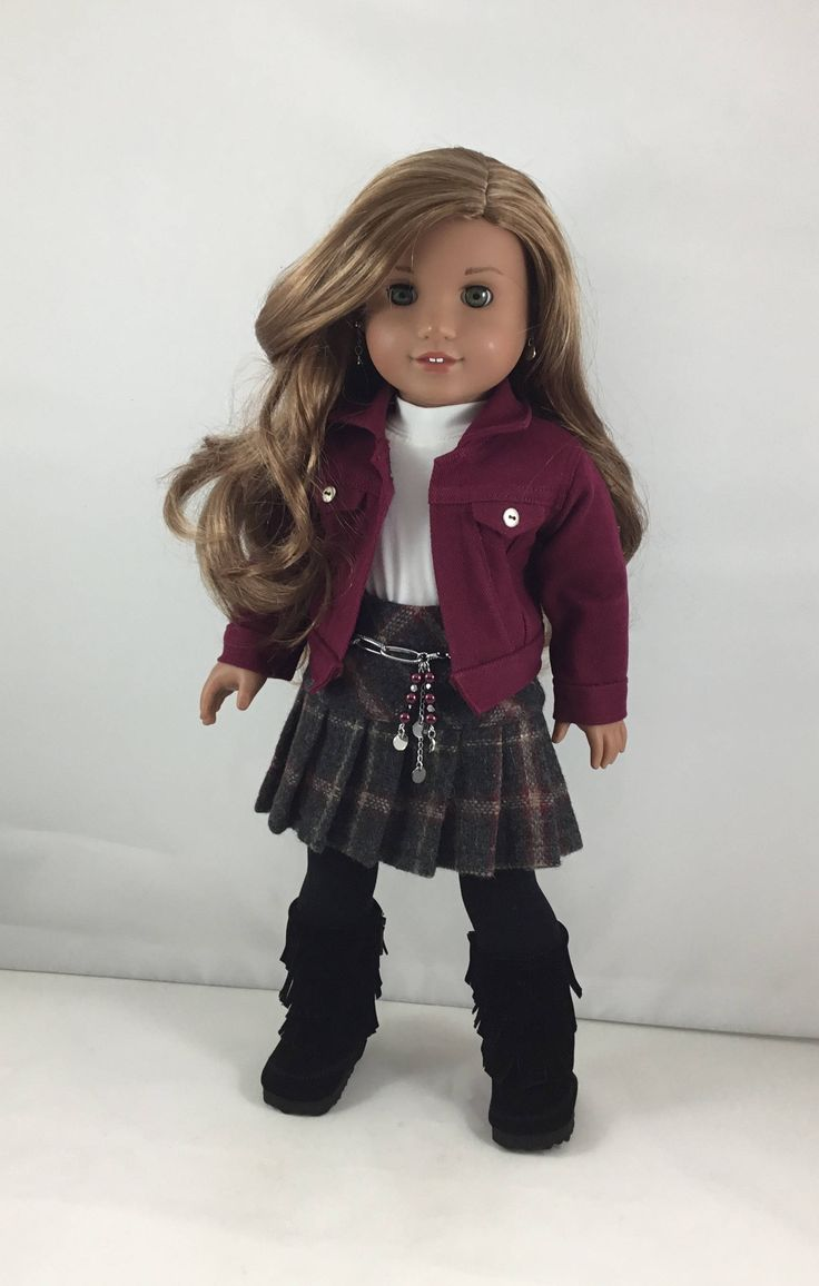 "18T Sweet & Sassy - Top, Jacket, Skirt, Belt, Tights and Boots for 18"" dolls like American Girl (R) Lea, Tenney, Grace, McKenna and Saige by MjsDollBoutique18T on Etsy"