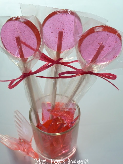 Ms. Fox's Sweets: Homemade Pink Lollipops