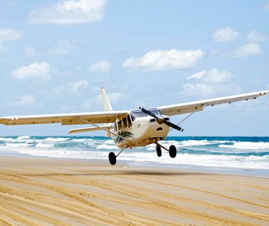 World's Strangest Beaches: 75 Mile Beach, Fraser Island, Australia. The hard-packed white sand allows four-wheel drive cards to ride and planes to land on it smoothly. #Australia #honeymoon #beaches