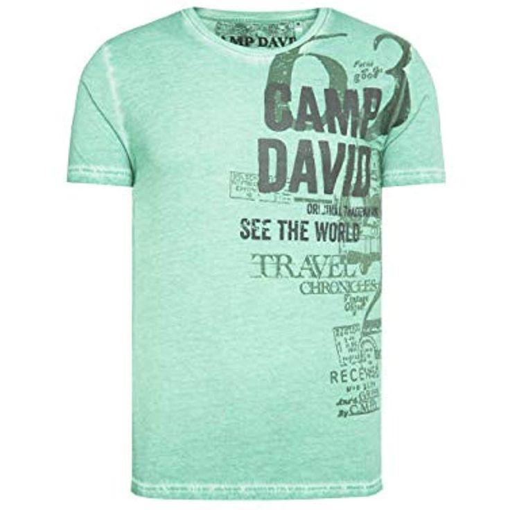 Camp David Herren T-Shirt mit Print im Vintage Look #Bekleidung #Herren #Unterw…