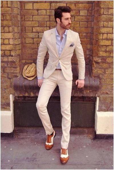 Best 25  Mens cream suit ideas on Pinterest | Mens suits style ...