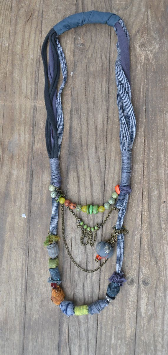 Ethnic Necklace, Statement Necklace, African Necklace, Natural Necklace, Eco Friendly Necklace