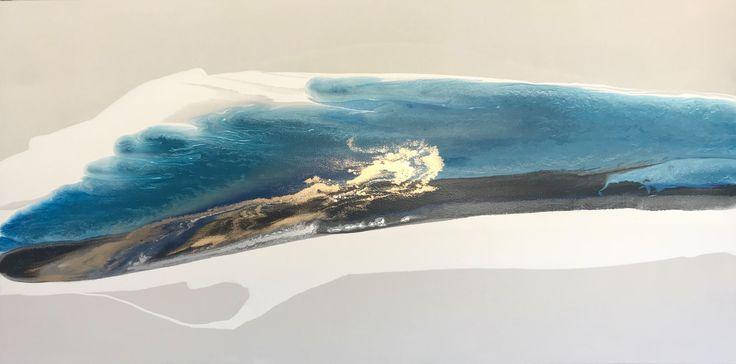 Atlantic Secrets 1600 x 800 mixed media on canvas #alexkrenzart #alexanderkrenzart #abstractlandscapes