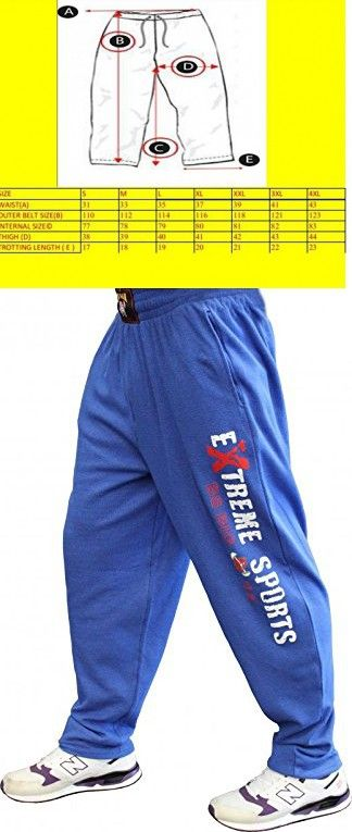 BIG SAM SPORTSWEAR COMPANY Men's Baggy Track Pants Bodypants *1084* 3XL Blue
