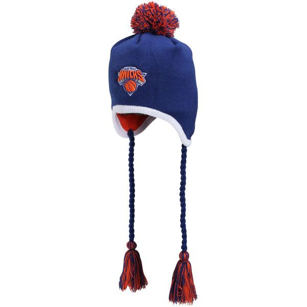 New Era New York Knicks Team-Tone Tassle Knit Hat - Royal Blue