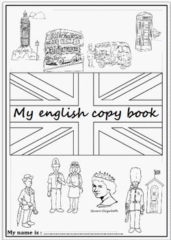 Pages de garde du cahier d'Anglais                                                                                                                                                                                 Plus