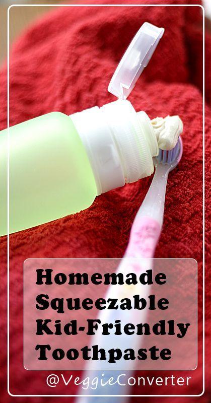 Homemade Toothpaste | @VeggieConverter kidfriendly