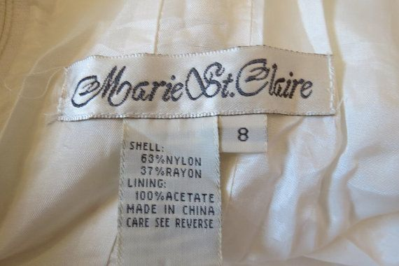 #MarieStClaire - American label on a 1980s cocktail dress.