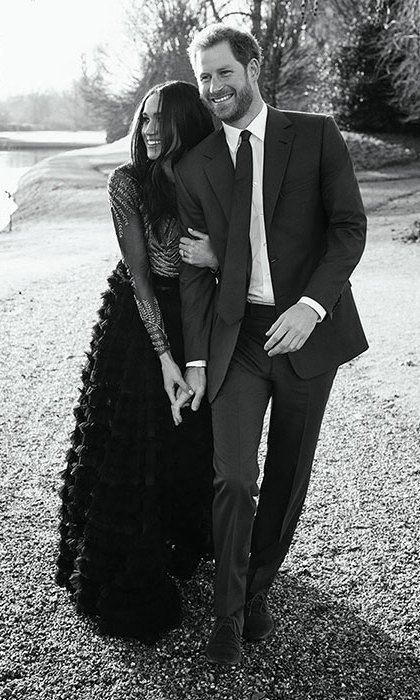 Prince Harry and Meghan Markle release candid from engagement photo shoot | HELLO! Canada