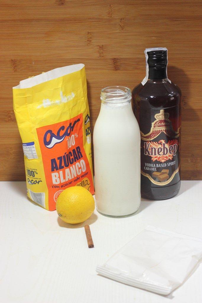Licor de crema catalana casero