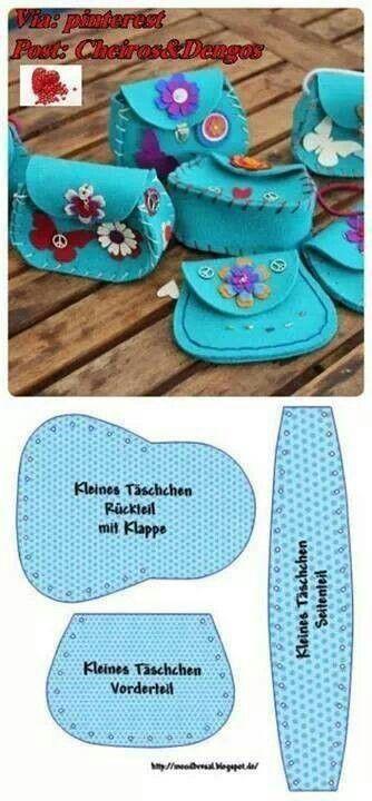 cute little felt ? purse pattern
