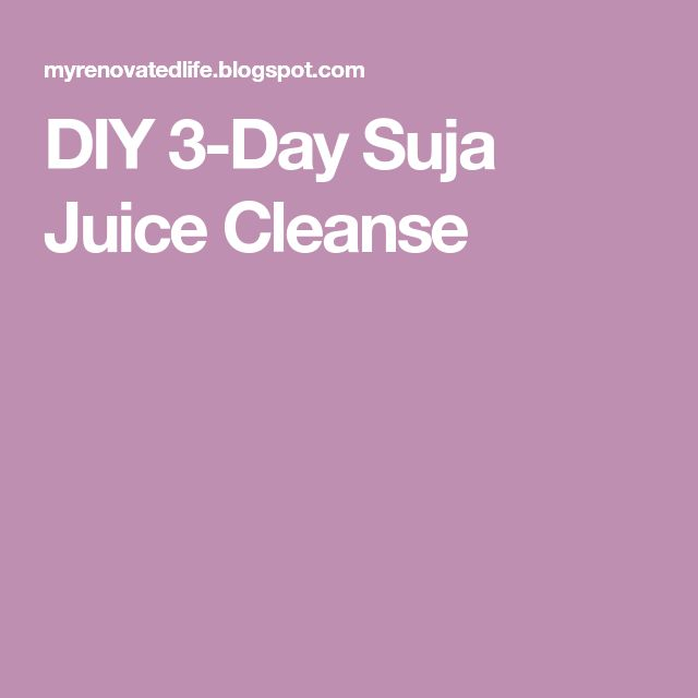 The 25 best suja juice cleanse ideas on pinterest suja cleanse diy 3 day suja juice cleanse juicingcleanse malvernweather Gallery