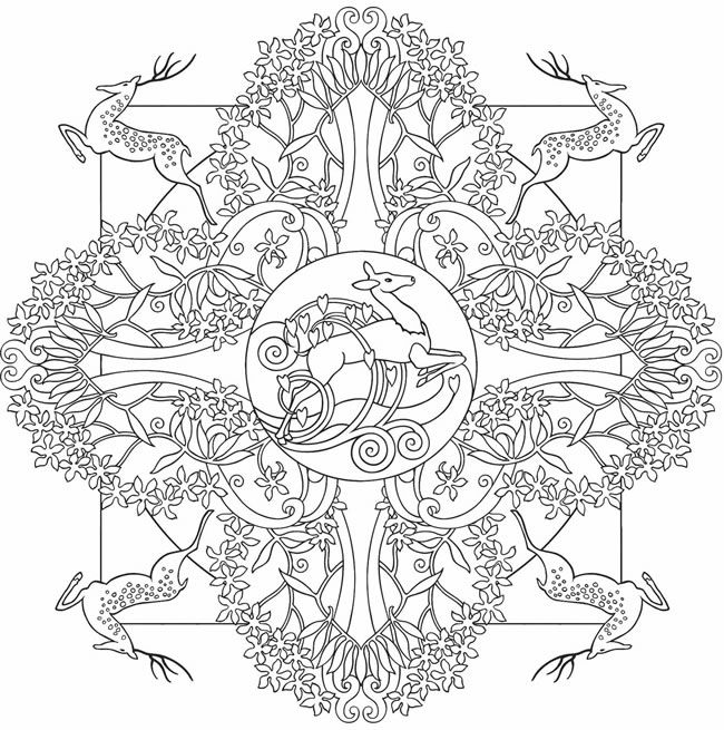 Nature Mandalas Coloring page. @doverpublications.com