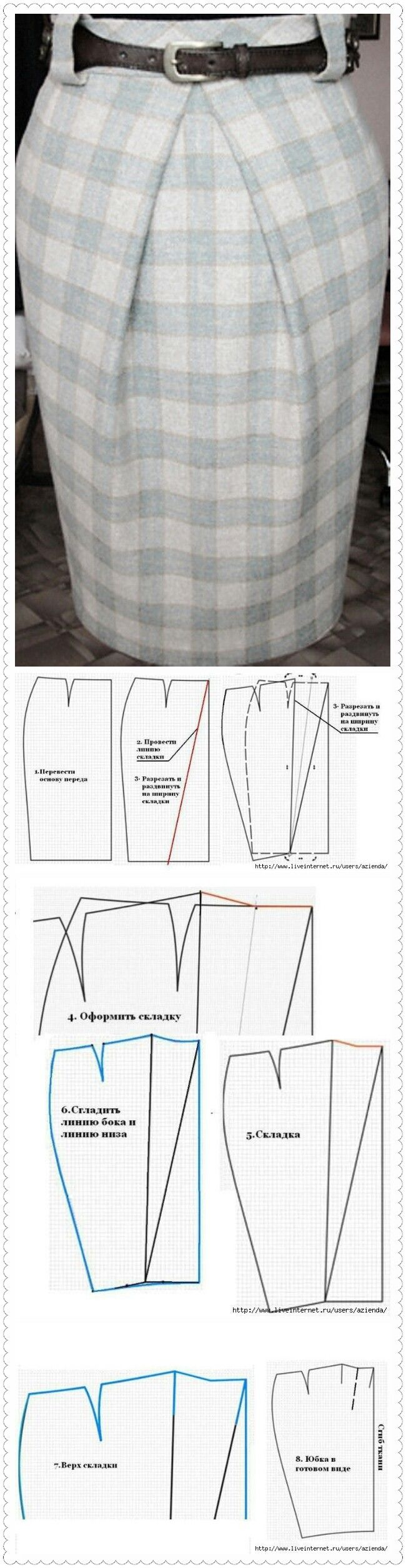 48 best faldas images on Pinterest | Skirts, Sewing patterns and ...