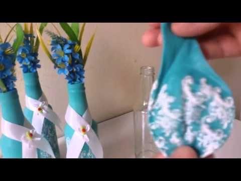 Como cortar garrafa de vidro com fogo e barbante-Skol Beates Senses - YouTube