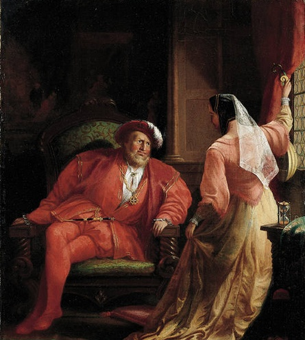 Anne Boleyn entertaining King Henry VIII