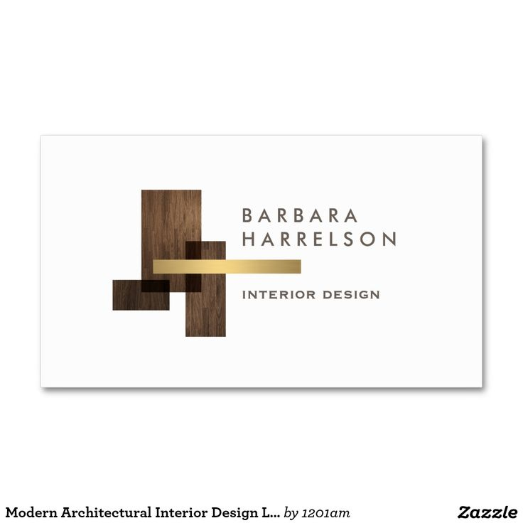 Modern Architectural Interior Design Logo And Business Card Template