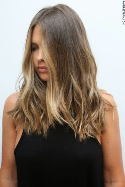 Bronde hair trend for all one length hair / like it #Bronde #haircolours #onelength