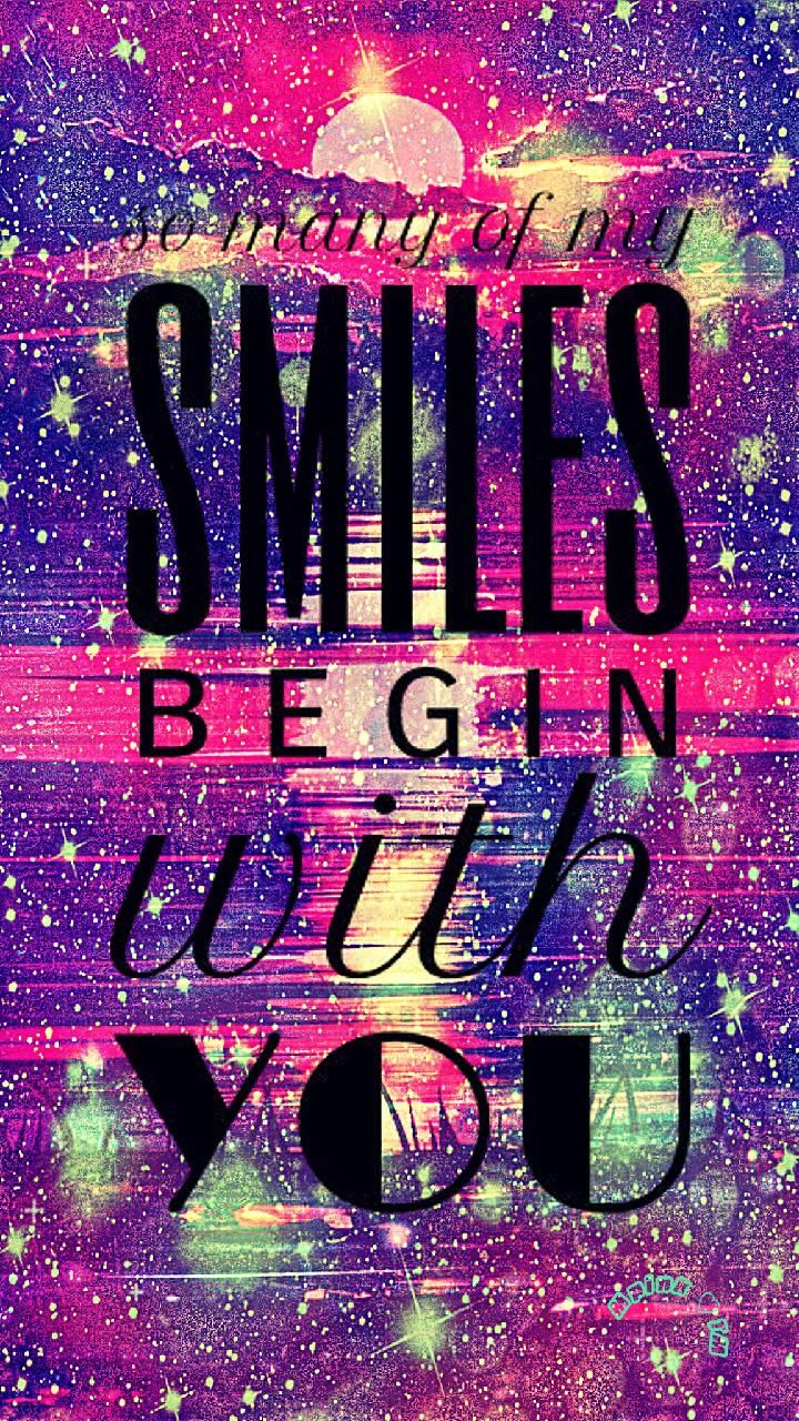 So Many Smiles Galaxy Wallpaper Androidwallpaper Iphonewallpaper Wallpaper Galaxy Sparkle Glitter Lockscreen Hippie Quotes Wallpaper Quotes Cute Quotes