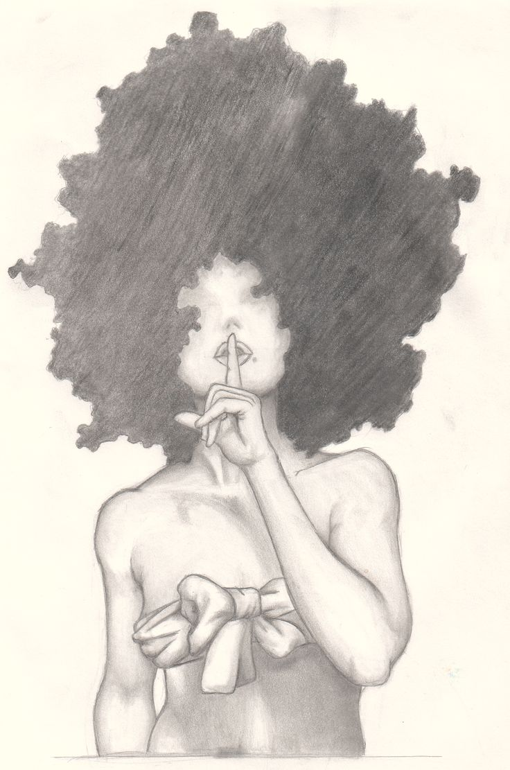 Afro Girl 2  Art Ladyp3  Pinterest  Natural Hair Art -9118