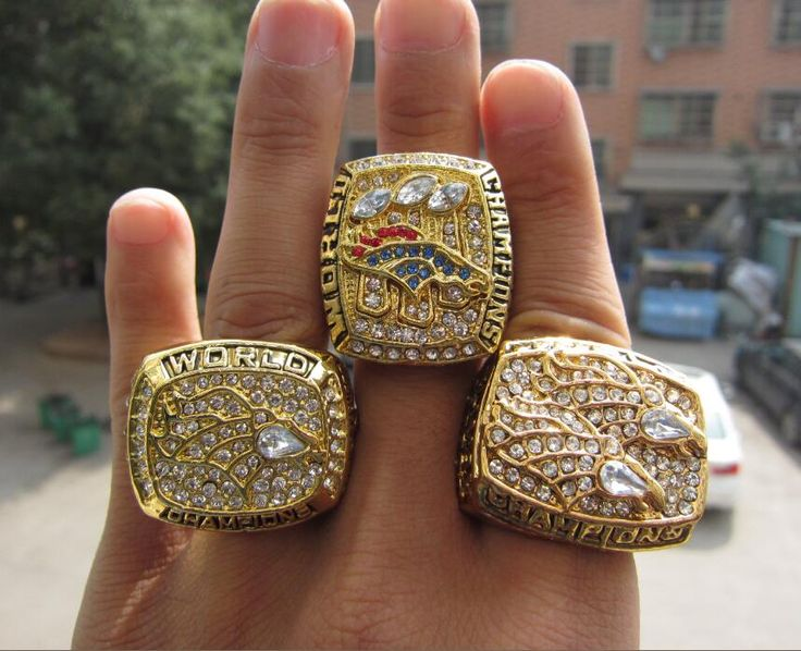 High Quality 1997 1998 2015 Denver Broncos SUPER BOWL 50 Championship RING Set 3 Together  solid Fan Brithday Gift Free Shipping