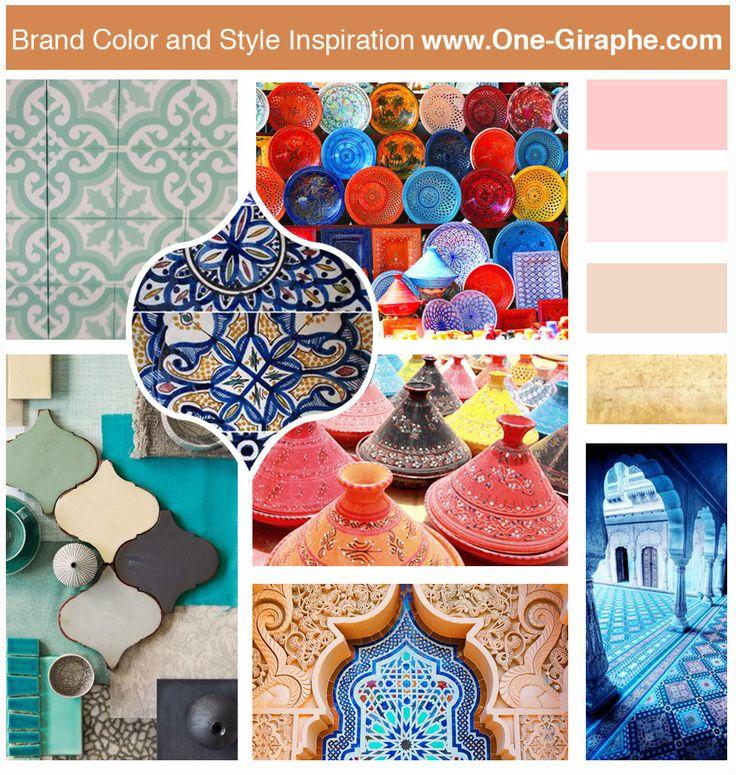 Moroccan Inspiration #moodboard #morocco #moroccan #inspiration #brand #logo #brandidentity #logodesign