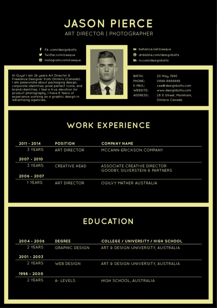 Best Resume Psd Images On   Curriculum Resume And