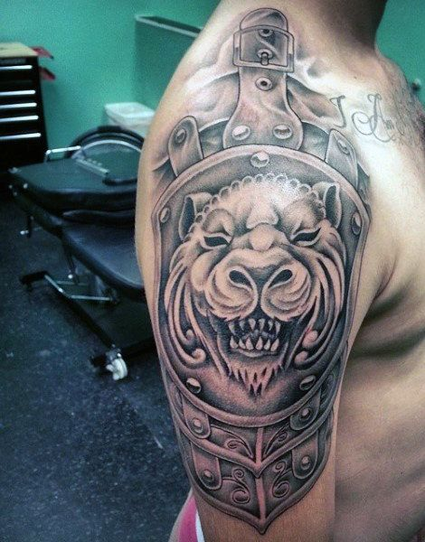 The 25 best mens shoulder tattoo ideas on pinterest for Armour of god tattoo