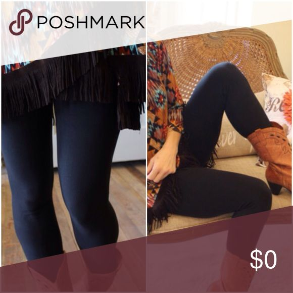 Wardrobe Staple! Butter Soft Black Leggings Butter soft! Great staple for your wardrobe. 92% Polyester 8% Spandex. One size (S-L) Pants Leggings