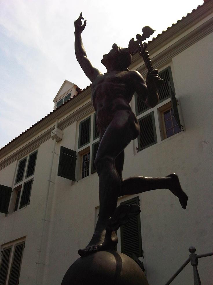 Hermes statue at Fatahillah Museum,Kota Tua,Jakarta,Indonesia. It was made around 18th century