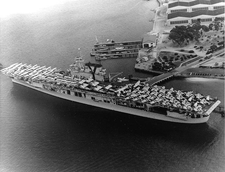 USS Yorktown (CV-5) prepares to get under way in June 1940. Yorktown was lost to Japanese attack during the Battle of Midway (June 1942). In 1998, her wreck was discovered at a depth of 3,000 fathoms (5,500 m). The remains were surprisingly intact, with much paint and equipment still visible.