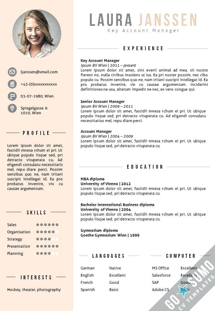 Resume Template Resume Template Word Resume With Picture Cv Cv Template Resume With Cover Lette Resume Template Word Cv Template English Cv Template