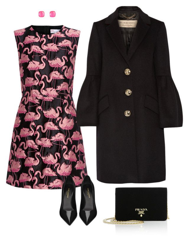 """""""fenicotteri"""" by mylittlestar on Polyvore featuring RED Valentino, Yves Saint Laurent, Prada, Kate Spade and Burberry"""
