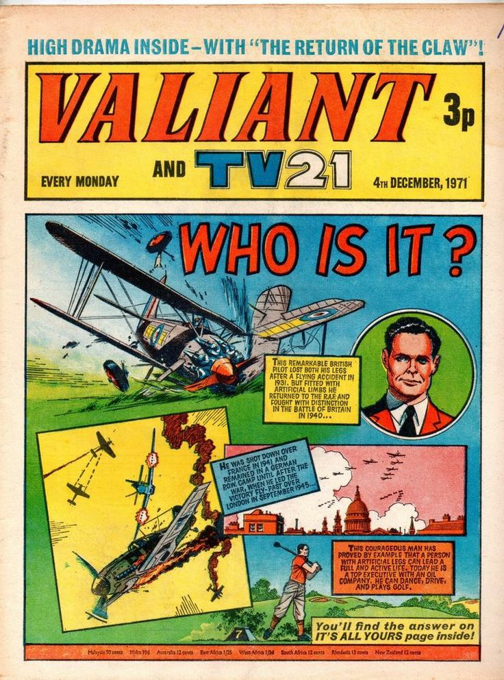 VALIANT AND TV 21 COMIC 4 TH DECEMBER 1971  STAR WARS