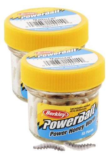 Berkley EBPHWN PowerBait Power Honey Worm, Natural, 1-Inch - OMJ Outdoors