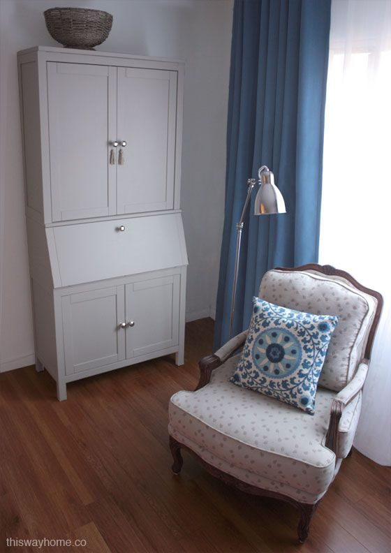 New Cornflower Blue Drapes And White Sheers An Antique