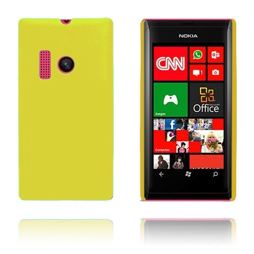 Hard Shell (Gul) Nokia Lumia 505 Cover