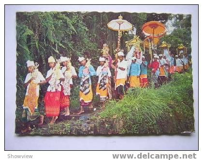 BALI   ACQUIRING  THE HOLY WATER  1980