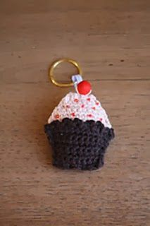 "Free Owl Crochet Keychain Pattern Free Crochet Chapstick / Lip Balm Holder Keychain Pattern 1"" Nickle D-Ring ..."