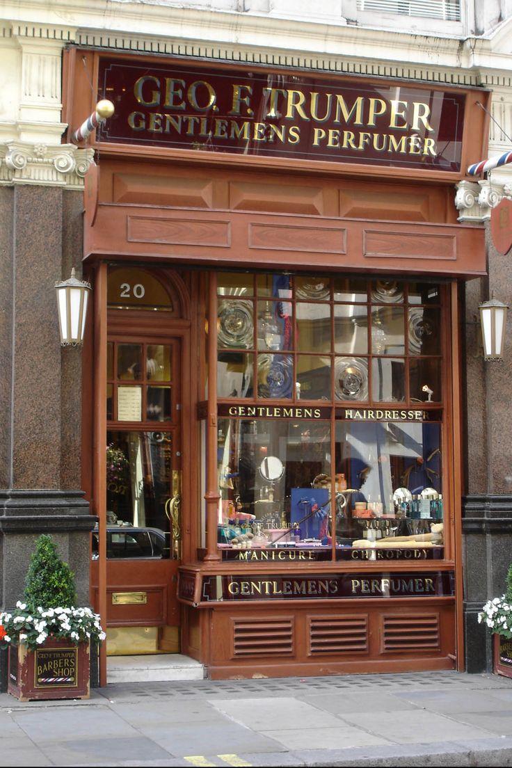 Old barber shop window - Geo F Trumper Gentleman S Barbers Perfumers 1 Duke Of York St