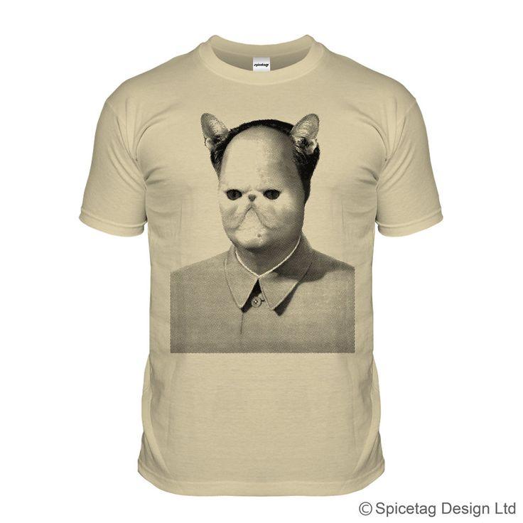Chairman Meow T-shirt Vintage Tshirt Fashion Cult Top Chairman Mao China Beige S-XXL Shirt (9.95 GBP) by Spicetag