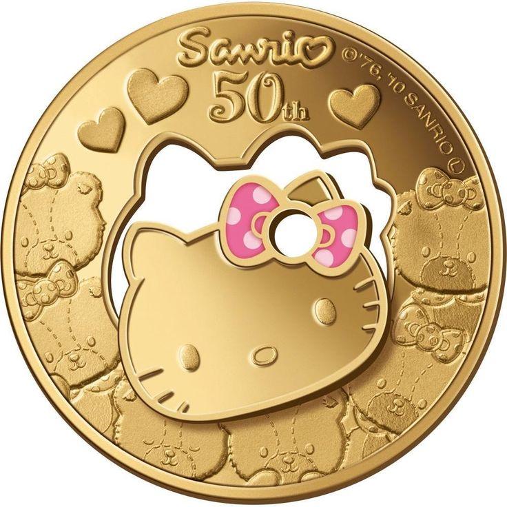 Niue Island 2010 $30 HELLO KITTY - Holy Dollar & Dump 1/2 Oz Gold Proof Coin