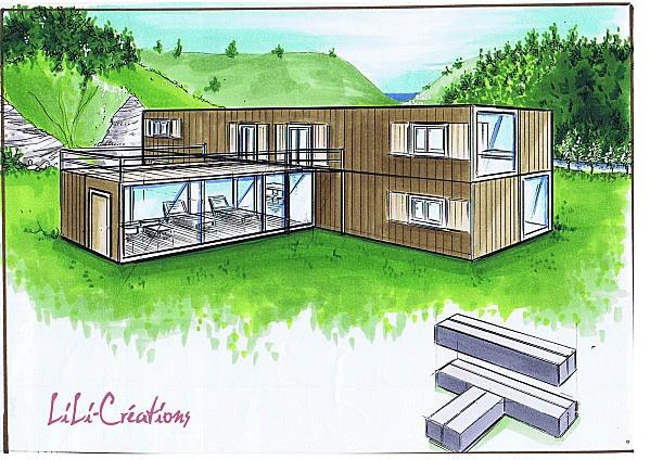 design shipping container houses pinterest conteneurs maisons conteneurs et projet maison. Black Bedroom Furniture Sets. Home Design Ideas